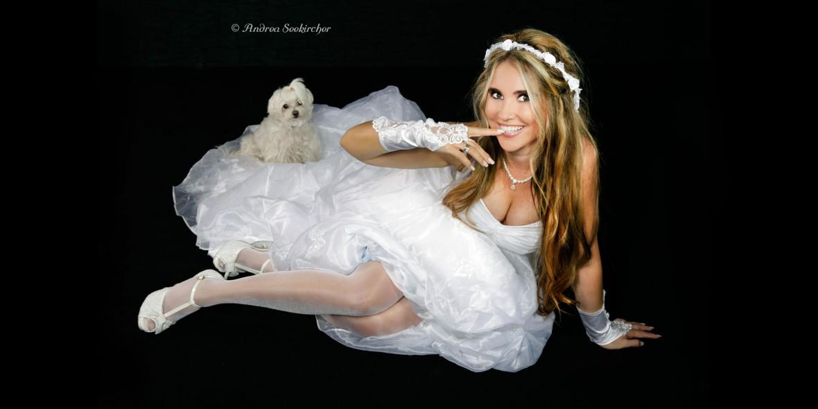 Sexy Brautkleid Fotoshooting