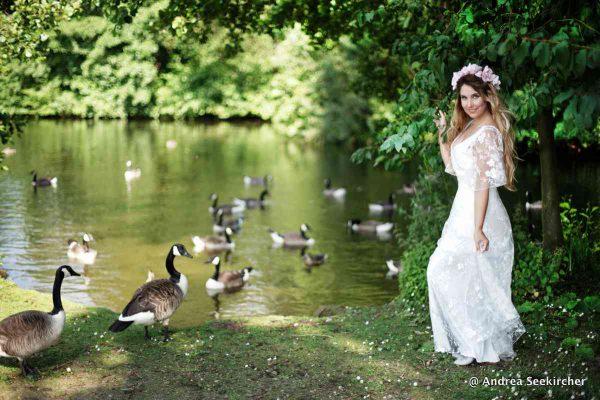 Fotoshooting im Brautkleid in NRW