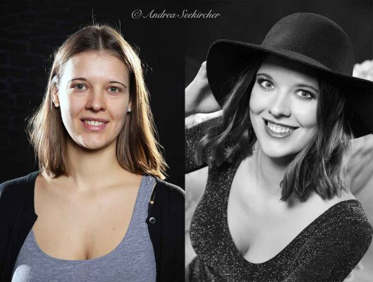 Vorher Nachher Fotoshooting Portraitsfotos Portraits mit Styling Düsseldorf NRW