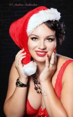 sexy weihnachtsfrau weihnachtsfoto