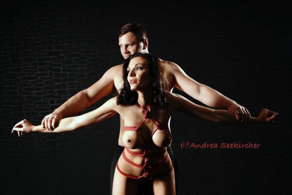 erotisches paarshooting bondage fotos